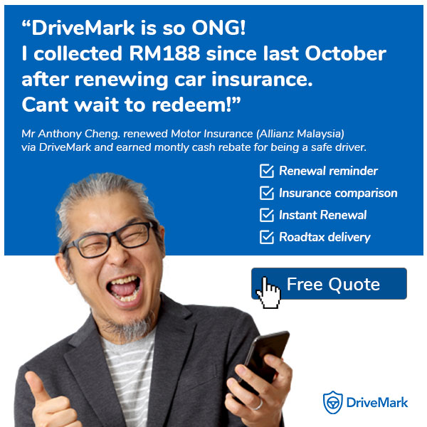 DriveMark Safe Driver Cashback program